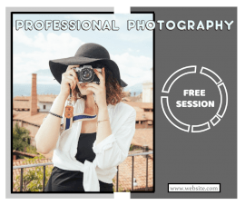 Online Editable Professional Photography Session Facebook Post