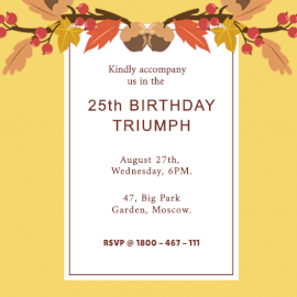 Online Editable Birthday Wishes Invitation