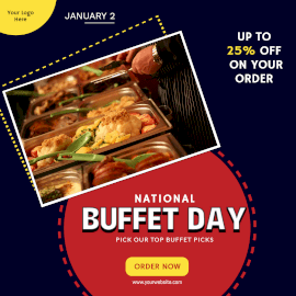 Online Editable National Buffet Day January 2 Instagram Post