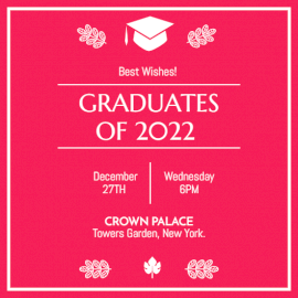 Online Editable Graduation Party Invitation