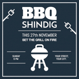 Online Editable BBQ Shindig Invitation