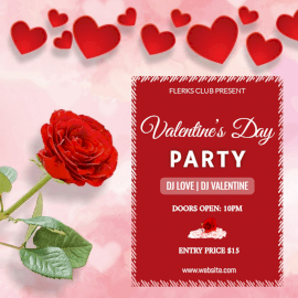 Online Editable Valentine's Day Party Social Media Post