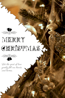 Online Editable Merry Christmas Wish Pinterest Graphic