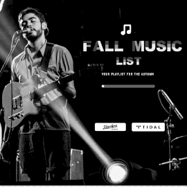 Online Editable Black Fall Music List Music Audiogram