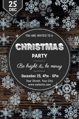 Online Editable Christmas Party Invitation Tumblr Graphic