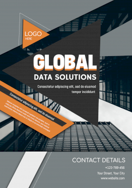 Online Editable Global Data Solutions Business Poster Marketing Materials