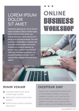 Online Editable Business Workshop Poster
