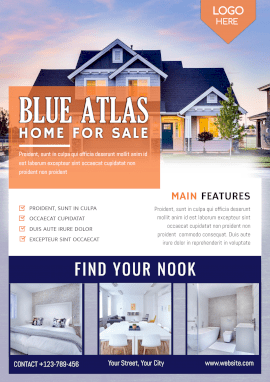 Online Editable Home for Sale Poster