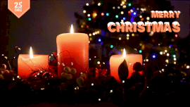 Online Editable Christmas Wishes with Candle Light Movement Cinemagraph