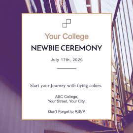 Online Editable Newbie Ceremony Invitation