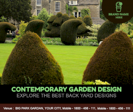 Online Editable Garden Ideas Designs Facebook Post