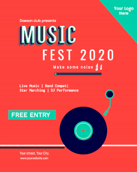Online Editable Music Fest Program Music Audiogram