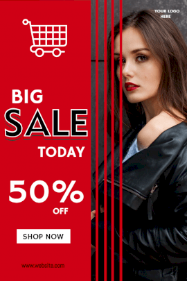 Online Editable Big Sale Offers Pinterest Graphic
