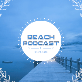 Online Editable Beach Podcast Square GIF Post 1:1