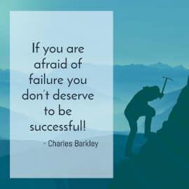 Online Editable Success and Failure Quotes by Charles Barkley Instagram Post