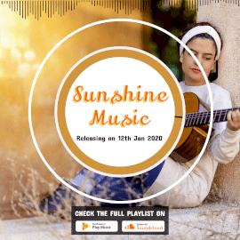 Online Editable Sunshine Music to Video Square 1:1