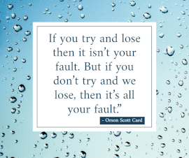 Online Editable Quotes on Trying By Orson Scott Card Facebook Post