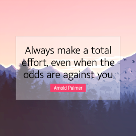 Online Editable Inspiration and Self-confidence Quotes by Arnold Palmer Instagram Post