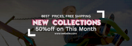 Online Editable New Collections Offer Tumblr Banner
