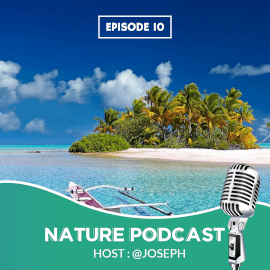 Online Editable Nature Podcast Instagram Post