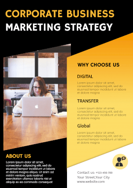 Online Editable Corporate Business Marketing Strategy Poster Marketing Materials