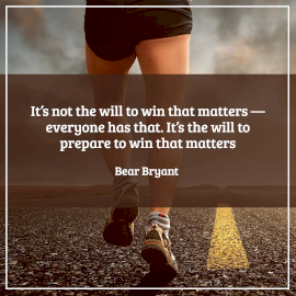 Online Editable Winning and Losing Quotes by Bear Bryant Instagram Post