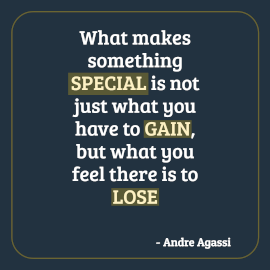 Online Editable Gain and Lose Quotes by Andre Agassi Instagram Post