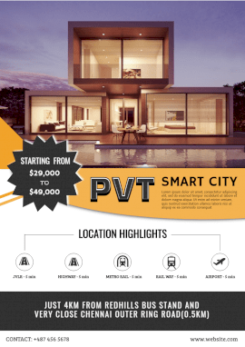 Online Editable Real Estate in Smart City A4 Document