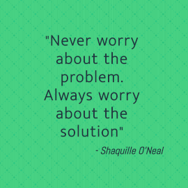 Online Editable Don't Worry About Problem Quotes by Shaquille O'Neal Instagram Post