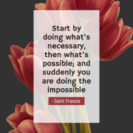 Online Editable Saint Francis Inspirational Quote Instagram Post