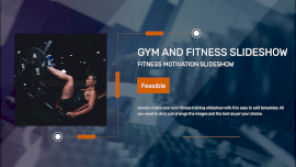 Online Editable Gym and Fitness Video Slideshow