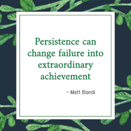 Online Editable Persistence Quotes by Matt Biondi Instagram Post