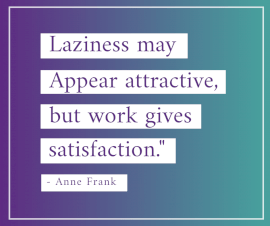 Online Editable Quotes on Work Satisfaction By Anne Frank Facebook Post
