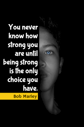 Online Editable Bob Marley Stay Strong Pinterest Graphic