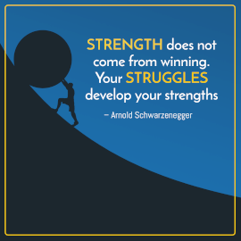 Online Editable Stay Strong Quotes by Arnold Schwarzenegger Instagram Post