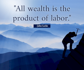 Online Editable Quotes on Wealth and Labor By John Locke Facebook Post