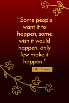 Online Editable Bill Maurin's Make it Happen Pinterest Graphic