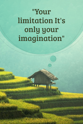Online Editable Inspiring Thoughts Pinterest Graphic