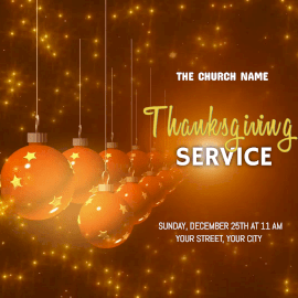 Online Editable Golden Thanksgiving Service Animated Design