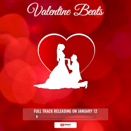 Online Editable Valentine Beats Music to Video Square 1:1
