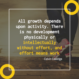 Online Editable Yellow Work Effort Quote by Calvin Coolidge Instagram Post