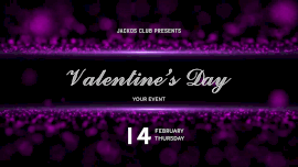 Online Editable Purple Particles Background Valentine's Day February 14 Animated Design