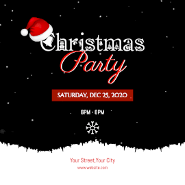 Online Editable Christmas Party Animated Design