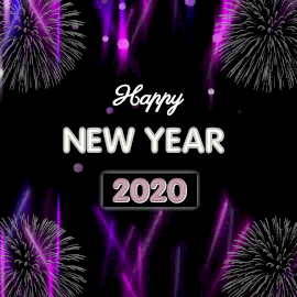 Online Editable Light Beam Background New Year 2020 Animated Design
