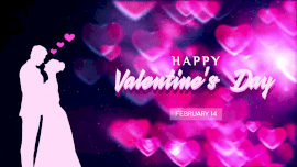 Online Editable Couple Picture in Happy Valentine's Day February 14 Animated Design