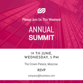 Online Editable Annual Summit Invitation