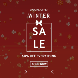 Online Editable Snowflakes Winter Sale Special Offer Animated Design