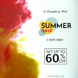 Online Editable Colorful Summer Sale Animated Design