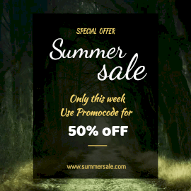 Online Editable Summer Sale Offer Animated Design