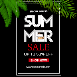 Online Editable Shockwave Background Summer Sale Special Offers Animated Design